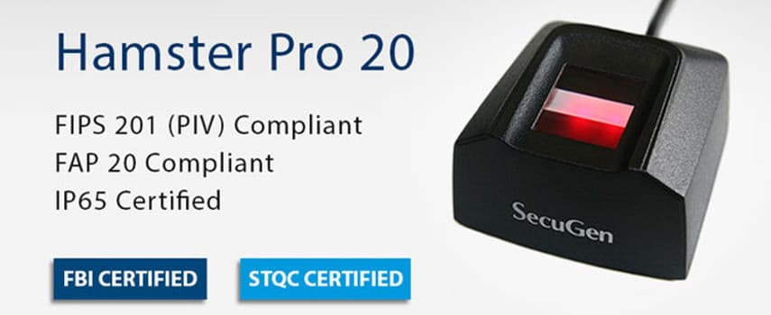 Secugen Hamster Pro 20 Fingerprint Reader
