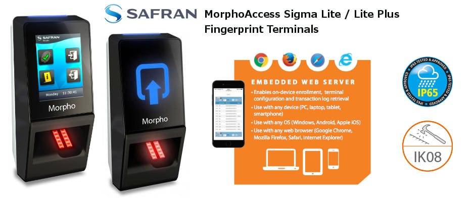 Morphoaccess Sigma Lite and Lite Plus Fingerprint Readers